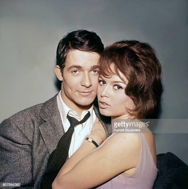 Jacques Charrier and Brigitte Bardot on the set of Babette S'en VaTEn Guerre