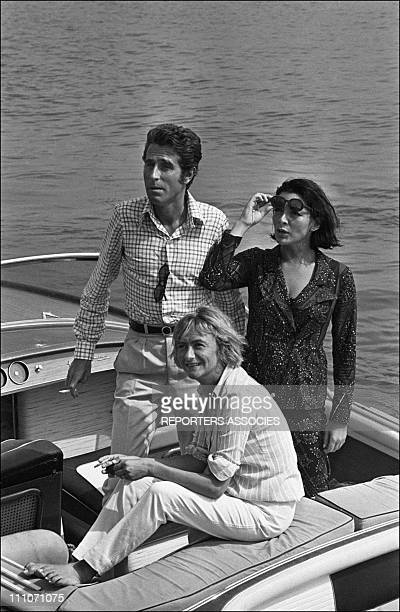 Jacques Chazot Juliette Greco Francoise Sagan in France on July 15 1966