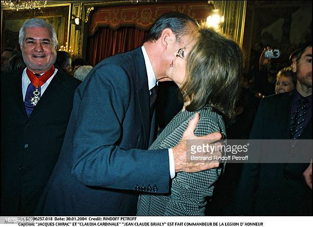 Jacques Chirac and Claudia Cardinale Jean Claude Brialy is made commander of the Legion of Honor