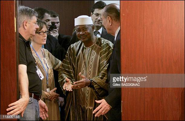 Jacques Chirac And His Daughter Claude On The Franco African Summit - Ress Conference At The End Of The 23Rd Africa-France Summit - On December 4Th,...
