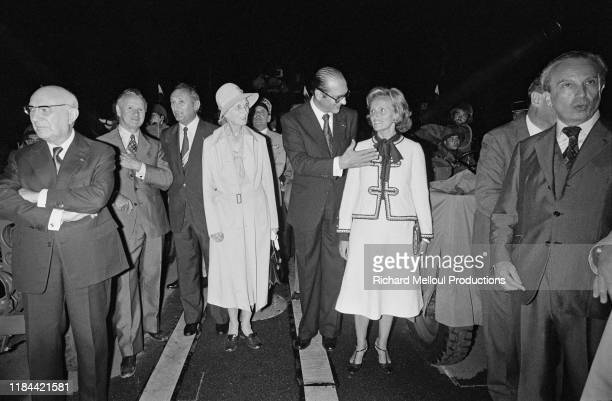 Jacques Chirac and his wife Bernadette Chirac attend the Liberation of Paris commemoration Paris 25th August 1977