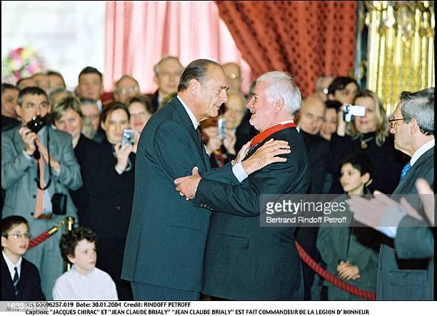 Jacques Chirac and Jean Claude Brialy Jean Claude Brialy is made commander of the Legion of Honor