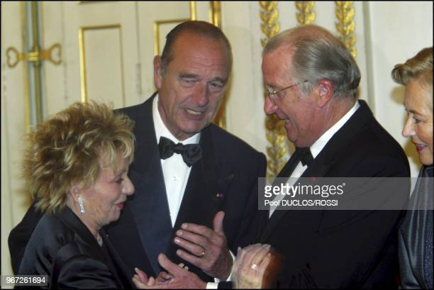 Jacques Chirac Annie Cordy and King Albert and Queen Paola