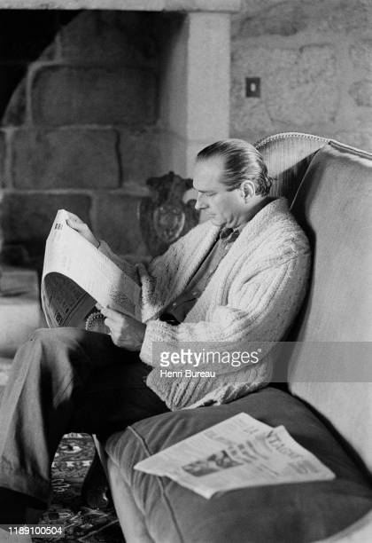 Jacques Chirac at home in Bity, Correze, France, 31 August 1976