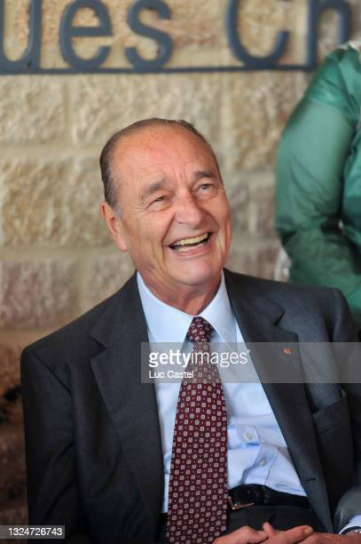 """Jacques Chirac attends the Opening of the Exhibition """" Chine de Bronze et d'Or """" at Musee du President Jacques Chirac on june 11, 2011 in Sarran ,..."""