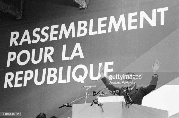 Jacques Chirac during the constitutive congress of the RPR party, France, 5th december 1976