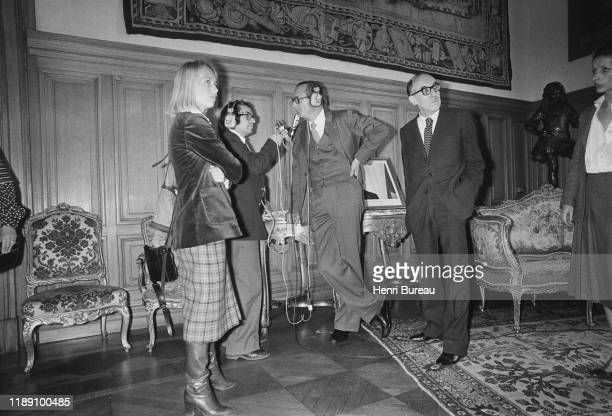 Jacques Chirac giving an interview as the new mayor of Paris, 25 March 1977