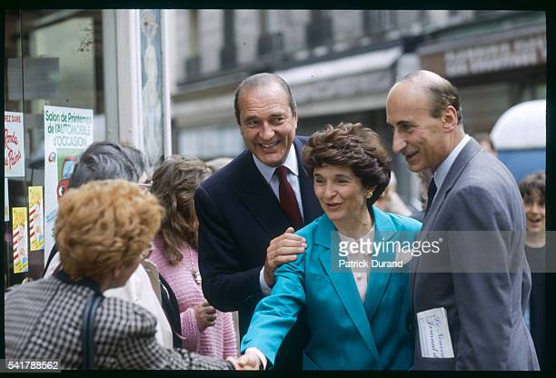 Jacques Chirac himself running for mayor of Paris lends political support to Nicole Catala and Jacques Toubon of the 14th and 13th arrondissements...