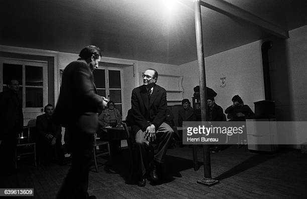 Jacques Chirac in Correze during his campaign for parliamentary elections.
