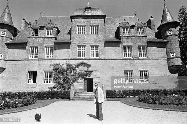 Jacques Chirac in front of his home in Correze. | Location: Bity, France.
