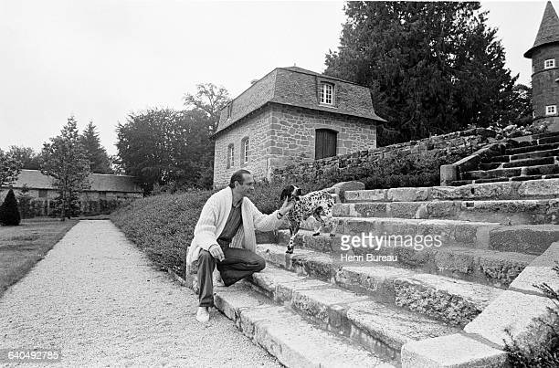 Jacques Chirac in his Correze home. | Location: Bity, France.