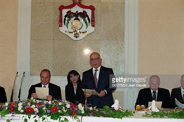 Jacques Chirac In Middle East Stopover In Jordan Amman En octobre 1996 dans le cadre d'un périple au PROCHE ORIENT le président de la république...