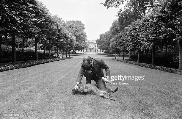 Jacques Chirac in the gardens of Matignon Palace He became Prime Minister in May 1974