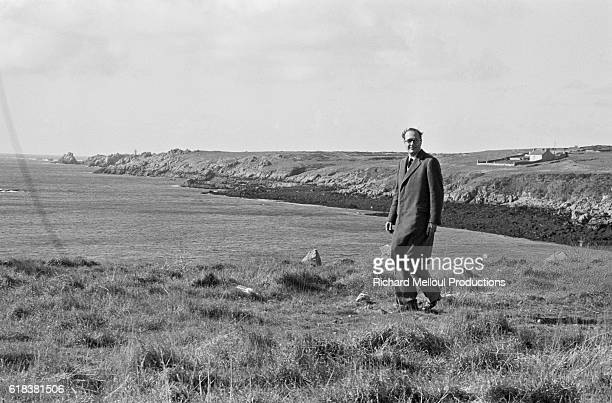 Jacques Chirac, leader of the Rassemblement pour la Republique, visits Brittany during a campaign trip before the 1981 French presidential elections....