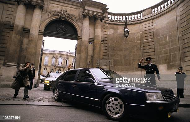 Jacques Chirac leaving Matignon for the Elysee Palace in Paris France on May 10th 1988