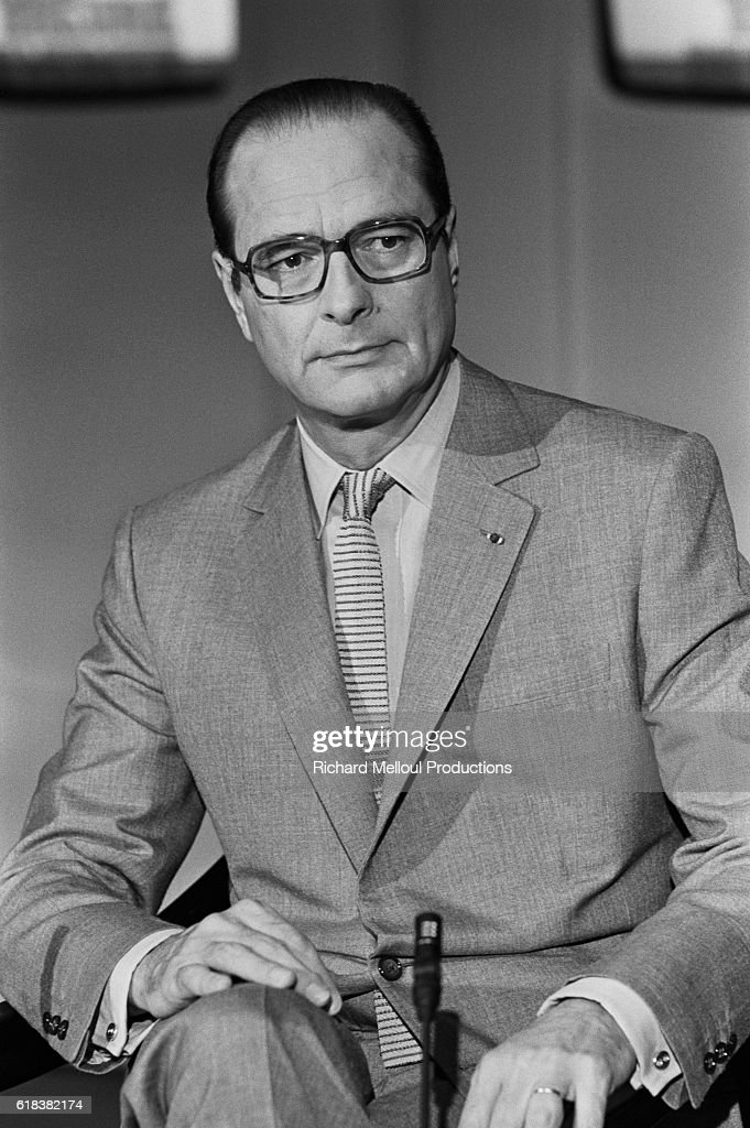 Mayor Jacques Chirac on French Television Show : Photo d'actualité