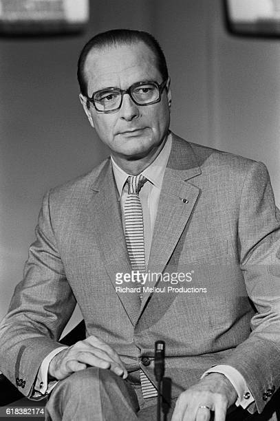 Jacques Chirac mayor of Paris appears on the French television show L'Heure de Verite