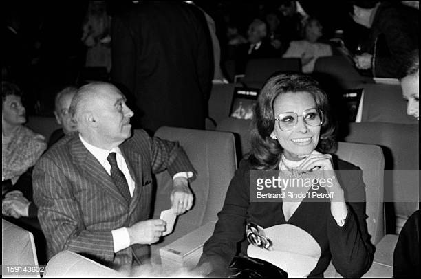 Jacques Chirac Mireille Mathieu and Raymond Barre attend the show of the Opera of Beijing