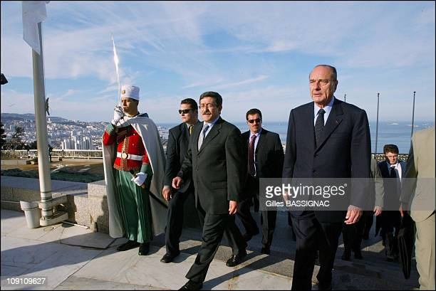 Jacques Chirac On State Visit To Algeria Martyrs Monument In Algiers On February 3Rd 2003 In Algiers Algeria