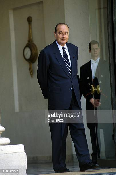 Jacques Chirac receives the current President of Burkina Faso, Blaise Compaore in Paris, France on May 14, 1998.
