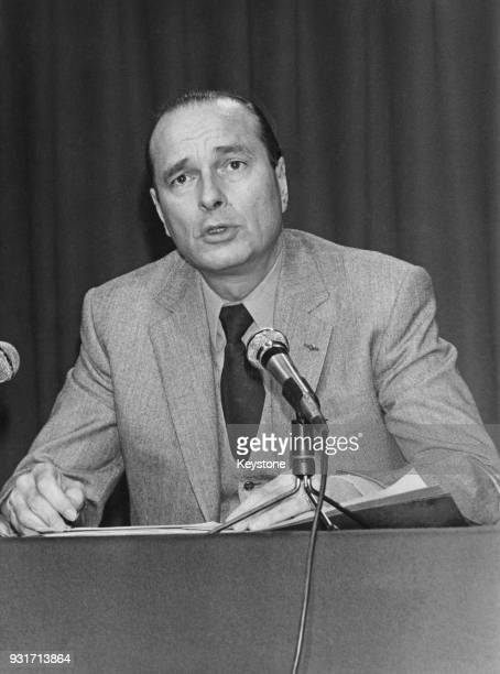 Jacques Chirac the Mayor of Paris addresses a preelectoral press conference France 12th February 1980