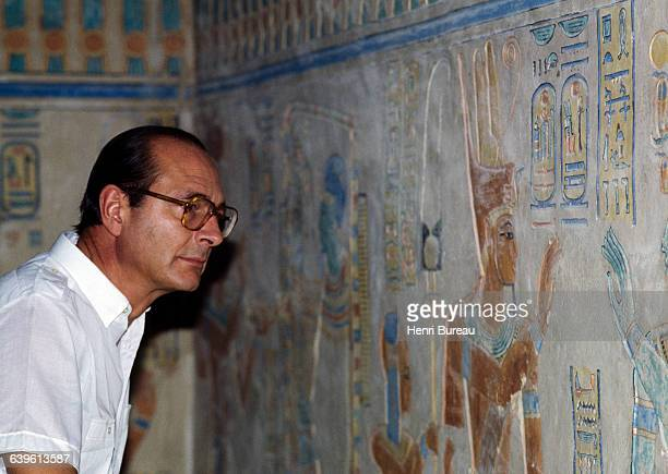 Jacques Chirac visits the Luxor Temple