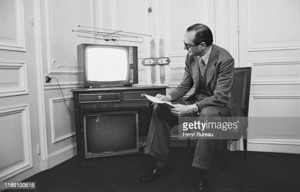Jacques Chirac waiting for the results of the 2nd round of the local election in Paris, 20 March 1977