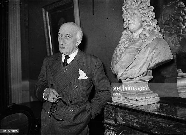 Jacques Copeau , administrator of the Comedie-Francaise. Paris, December 1940.