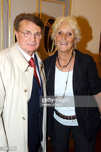 Jacques Courtin and Marie-Claire Noah in Paris,France on May 19,2006.