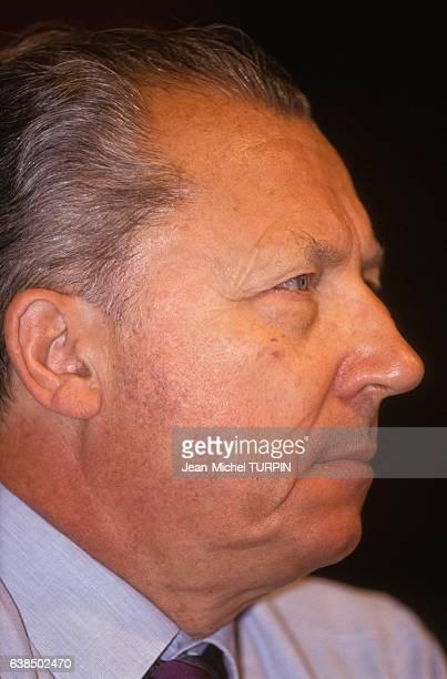 Jacques Delors aux rencontres Démocratie 2000 le 8 septembre 1990 à Lorient France