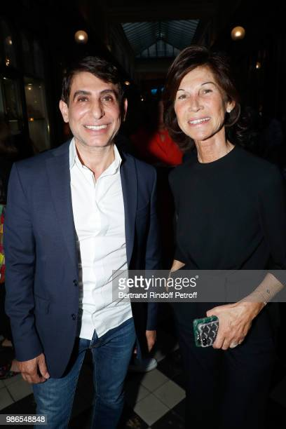 Jacques Demi and Sylvie Rousseau attend the Tan Giudicelli Exhibition of drawings and accessories preview at Galerie Pierre Passebon on June 28 2018...