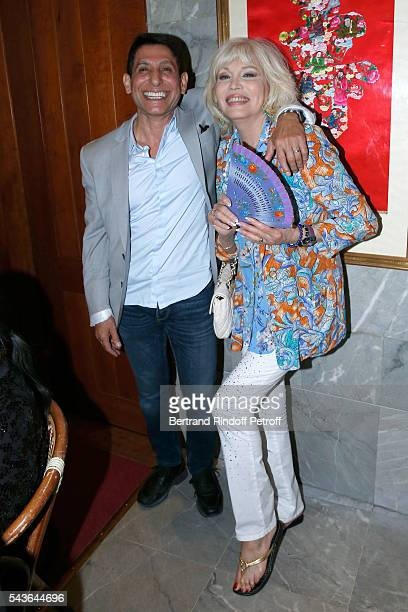 Jacques Demri and Amanda Lear attend the Dinner following the Private View of 'Francoise Sagan Photographer' Photo Exhibition at Galerie Pierre...
