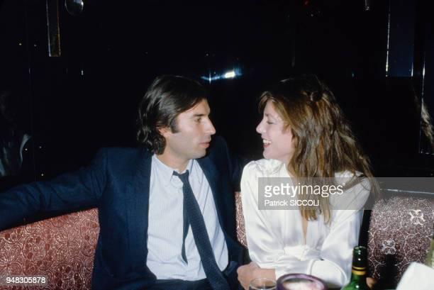 Jacques Doillon et Jane Birkin en soirée dans les années 80 Circa 1980