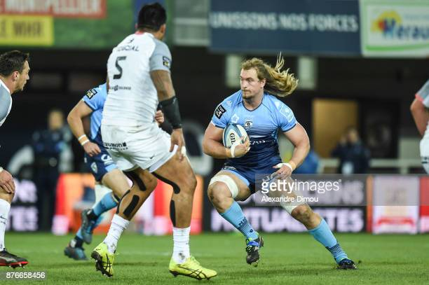 Jacques Du Plessis of Montpellier during the Top 14 match between Montpellier and Toulouse on November 18 2017 in Montpellier France