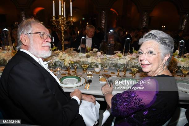 Jacques Dubochetlaureate of the Nobel Prize in Chemistry and Princess Christina of Sweden attend the Nobel Prize Banquet 2017 at City Hall on...