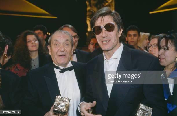 Jacques Dutronc et Jean Carmet à la cérémonie de remise de prix de la 17éme nuit des Césars.