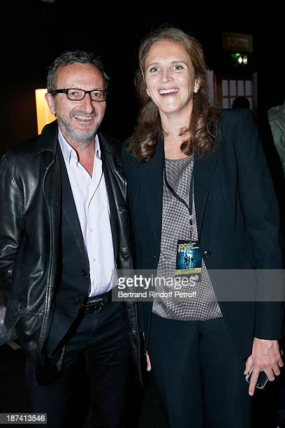 Jacques Expert and Police captain Marie Deniau pose as they attends the 100th Anniversary of The Paris Judiciary Police exhibition opening on...