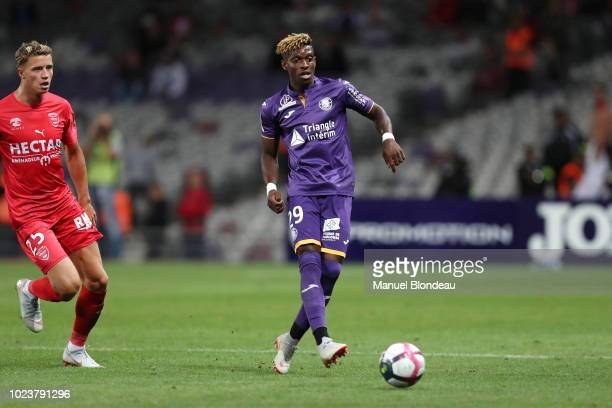 Jacques Francois Moubandje of Toulouse during Ligue 1 match between Toulouse and Nimes on August 25 2018 in Toulouse France