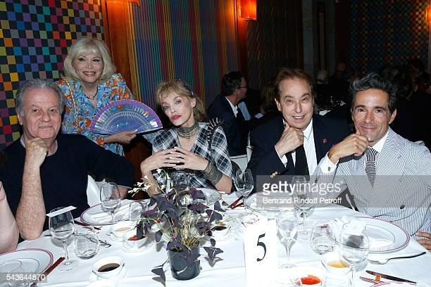 Jacques Grange Amanda Lear Arielle Dombasle Gilles Dufour and Vincent Darre attend the Dinner following the Private View of Francoise Sagan...