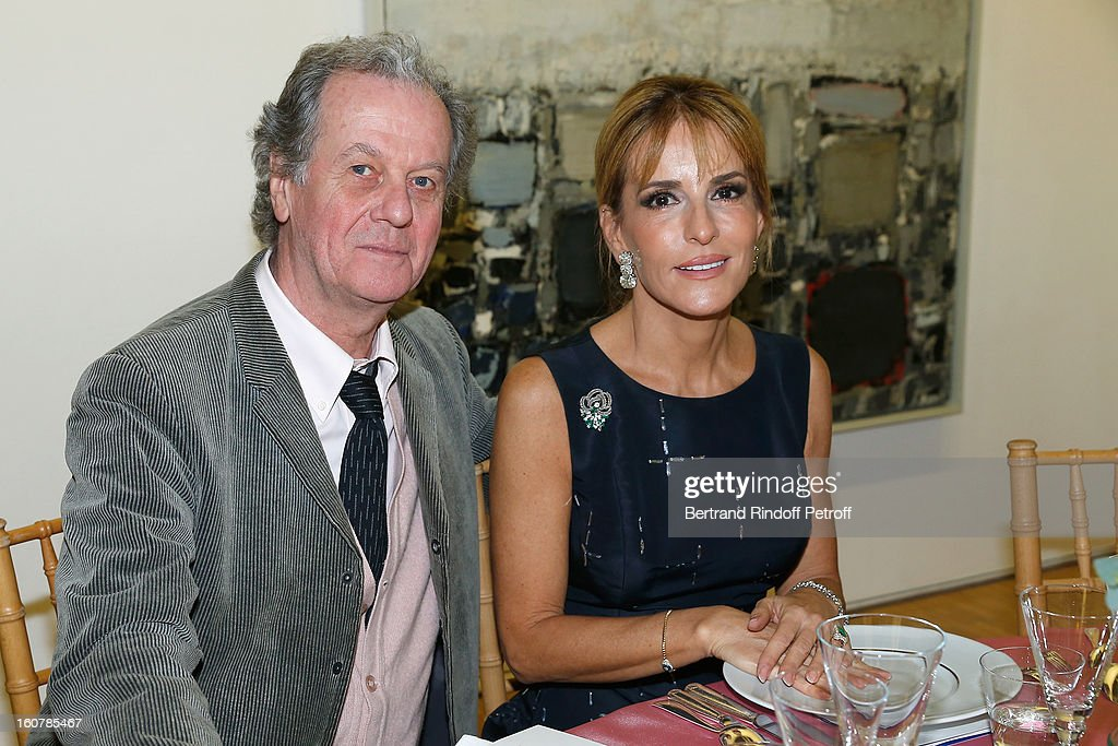 Jacques Grange (L) and Patricia d'Arenberg attend the 8th Annual Dinner of the 'Societe Des Amis Du Musee D'Art Moderne' at Centre Pompidou on February 5, 2013 in Paris, France.