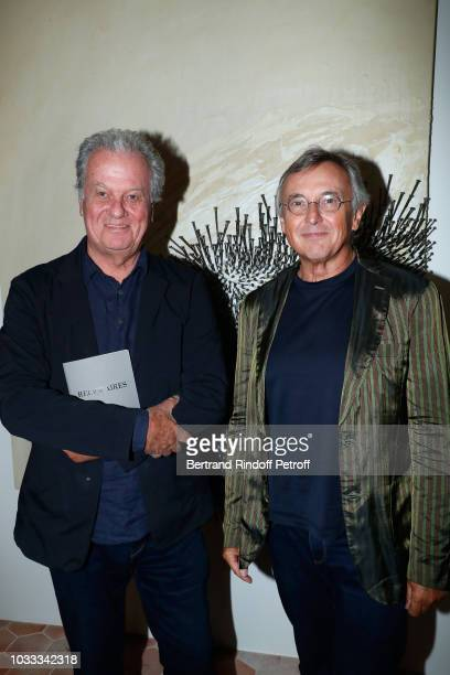 Jacques Grange and Pierre Passebon attend the Kering Heritage Days Opening Night at 40 Rue de Sevres on September 14 2018 in Paris France