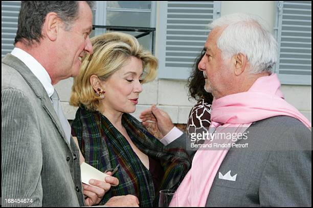 Jacques Grange Catherine Deneuve JeanClaude Brialy at Sean Connery And Micheline Roquebrune 30 Year Anniversary Party At Chateau De Groussay