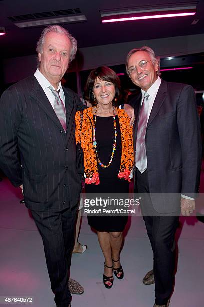 Jacques Grange Martine Dassault and Pierre Passebon attend the Auction Dinner to Benefit 'Institiut Imagine' on September 10 2015 in Paris France