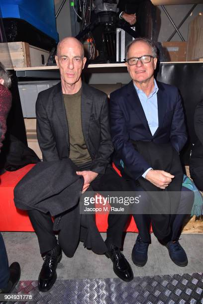 Jacques Herzog and Pierre de Meuron attend Prada F/W 18 Men's Fashion Show on January 14 2018 in Milan Italy