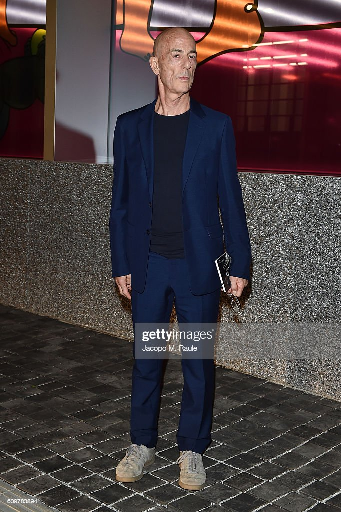 Jacques Herzog attends Miuccia Prada and Patrizio Bertelli private screening of a short movie by David O. Russell and dinner party at Fondazione Prada during Milan Fashion Week Spring/Summer 2017 on September 22, 2016 in Milan, Italy.