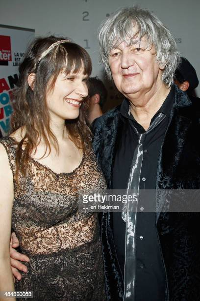 Jacques Higelin and Camille attend the 50th anniversary celebration of french radio France Inter at La Gaite Lyrique on December 8 2013 in Paris...