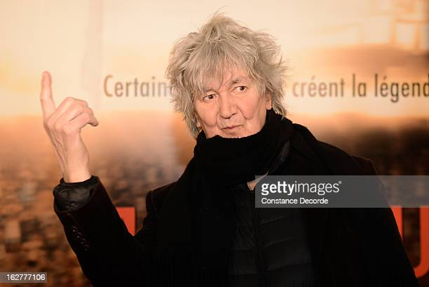 Jacques Higelin attends the 'Jappeloup' premiere at Le Grand Rex on February 26 2013 in Paris France