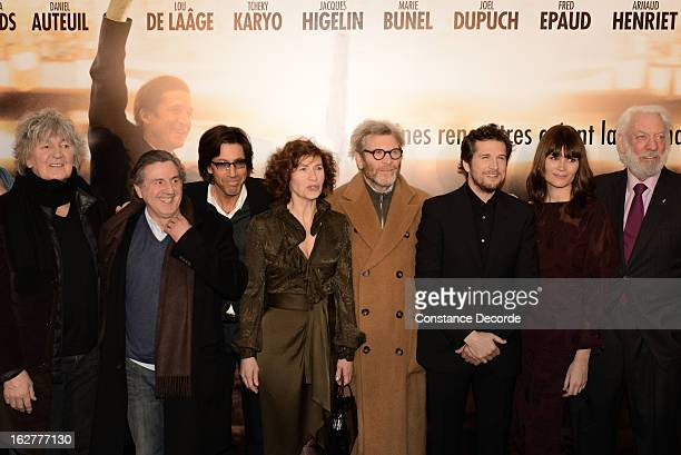 Jacques Higelin Daniel Auteuil Marie Bunel Tcheky Karyo Guillaume Canet Marina Hands and Donald Sutherland attend the 'Jappeloup' premiere at Le...