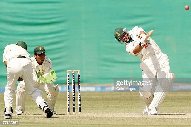 Jacques Kallis in action during day one of the first Test match series between Pakistan and South Africa on October 1 2007 held at the National...