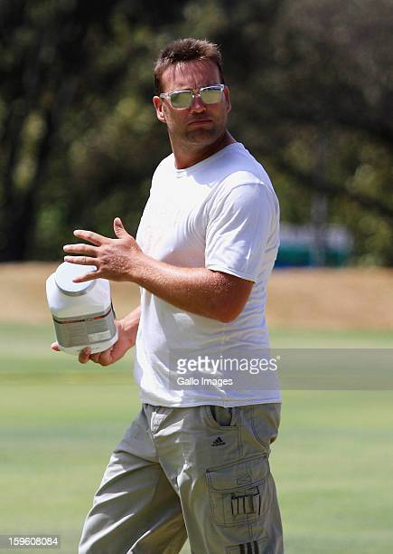 Jacques Kallis leaves the South African national cricket team nets session and press conference at Claremont Cricket Club on January 17 2013 in Cape...